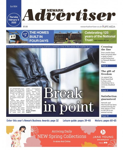 The Newark Advertiser was among the Iliffe titles to splash on the probe's findings