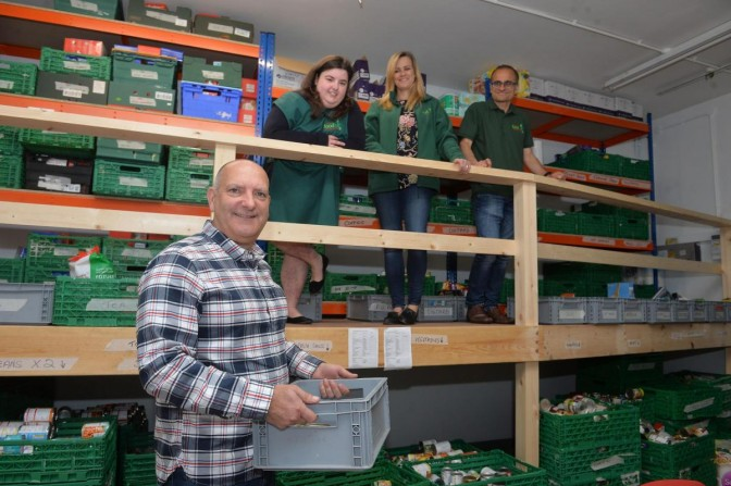Newport Foodbank manager John Slocombe, in front, with other volunteers