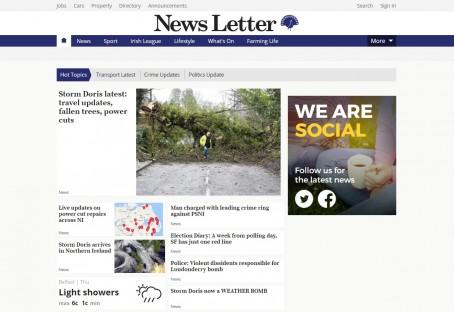 News Letter screenshot