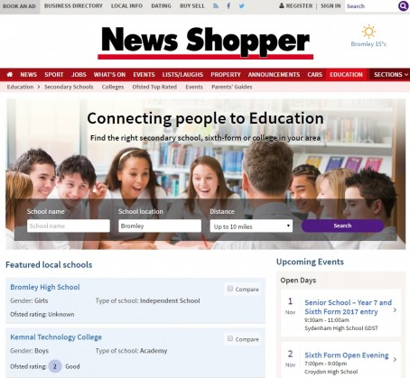 How the channel looks on the News Shopper's website