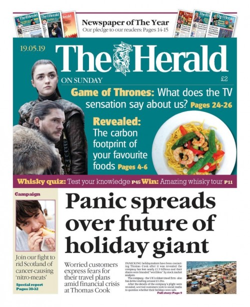 The Herald on Sunday launched the campaign on its front page