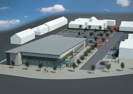 An artist's impression of how the former Chronicle & Echo site will look