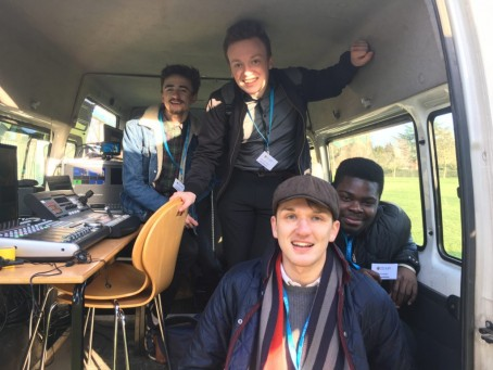 The four journalism students who covered the tournament