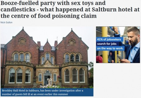 How the story appeared on the Echo's website