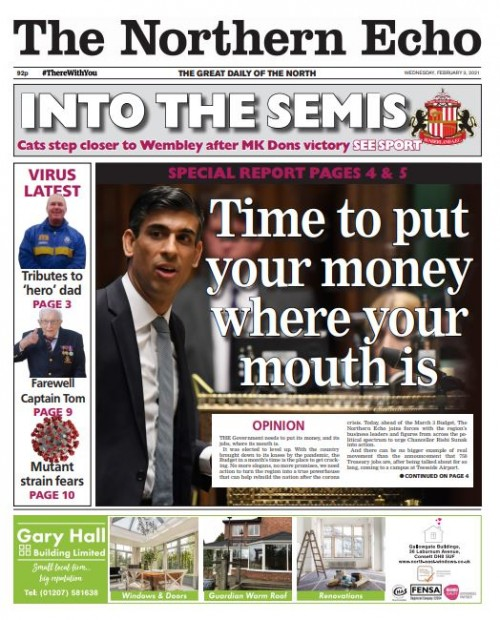 The Echo splashed on the campaign's launch on Wednesday