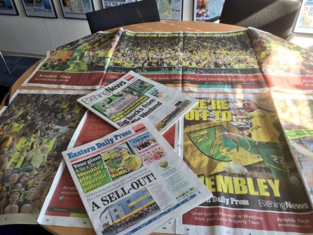 Dailies produce 'biggest ever poster' to mark football final