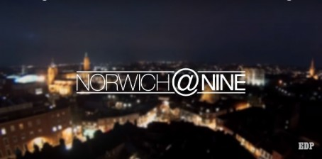 A screenshot from the Norwich@Nine opening title sequence