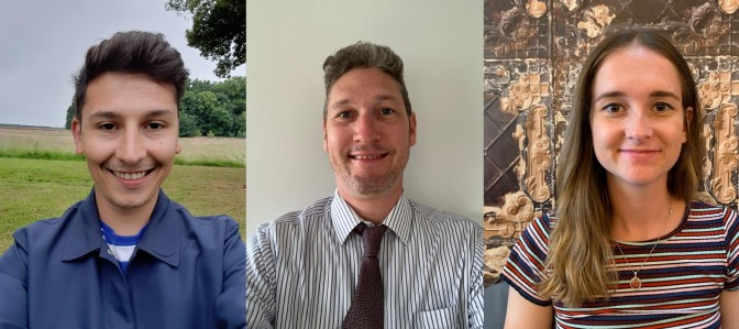 From left: Andrew topping, Matt Jarram and Anna Whittaker