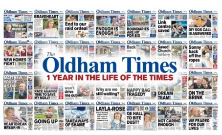 revamp for newsquest 39 s oldham times as it marks a year in. Black Bedroom Furniture Sets. Home Design Ideas