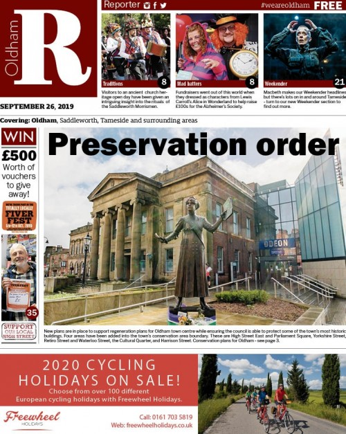 The new look Oldham Reporter