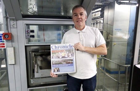 Chronicle digital journalist Simon Smedley with the new supplement