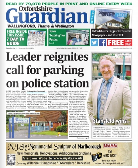 Last week's Wallingford edition of the Guardian