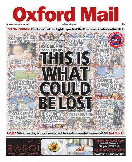 The Oxford Mail triumphed in five awards