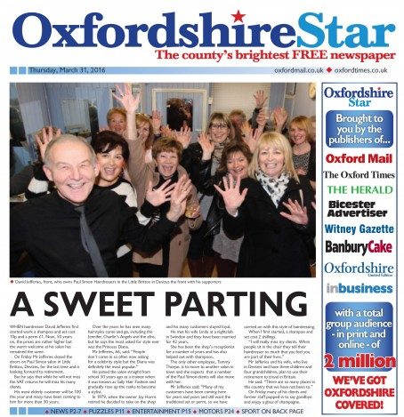 A dummy edition of Newsquest's Oxfordshire Star which is to launch next week