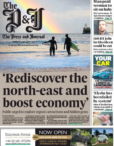 The P&J splashed on the the campaign's launch