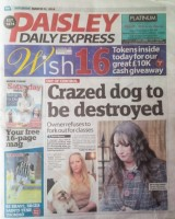 Paisley Daily Express page 1