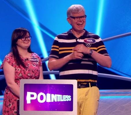 Paul Geater and his daughter Charlotte celebrate winning the jackpot