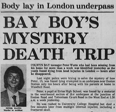 The Post's report of Peter's death in 1976