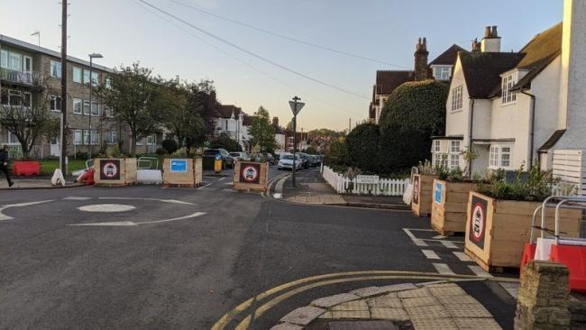 """An example of the type of """"low traffic"""" planters in Harrow"""