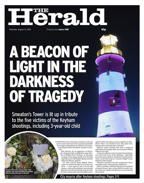 How The Herald paid tribute to the victims on Saturday
