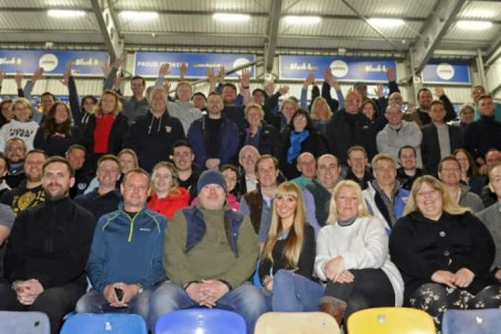 Fundraisers at Portsmouth FC's fratton Park ground