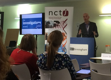 Archant's David Powles addresses the conference