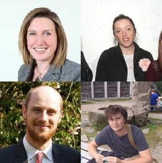 Clockwise from top left: Jacqui Merrington, Philippa Jenkins, Richard Booth and Edd Moore