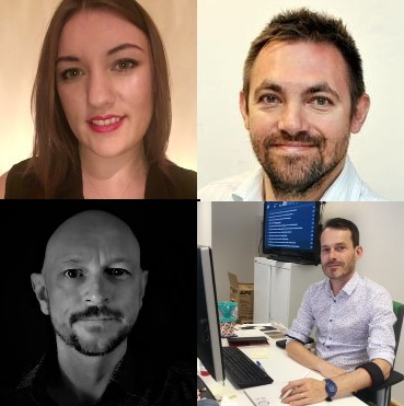 Clockwise from top left: Laura Hill, Ben Green, Pete Gavan and Max Channon