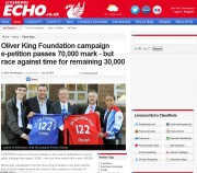 The Liverpool Echo ran a campaign to get defibrillators installed in schools after the death of schoolboy Oliver King