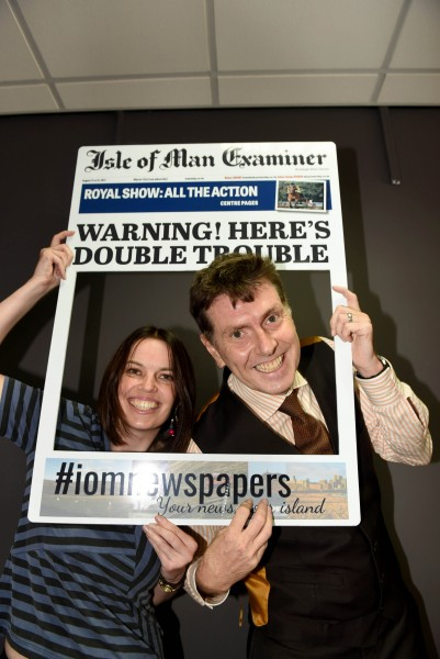 Isle of Man Newspapers will be at the Royal Manx Show - pictured Jackie Turley (deputy editor) and Richard Butt (editor)