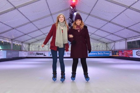 Skaters enjoy the EDP and NEN's new larger ice rink