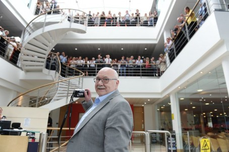 Mail and Record colleagues bid farewell to Ronnie in 2014