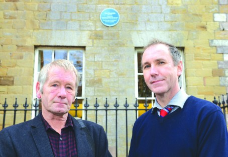 Advertiser editor Andrew Mosley, right, with Rotherham District Civic Society secretary Peter Hawkridge