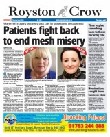 A 2015 story about the campaign which appeared on the Royston Crow's front page