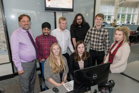 The Southern Daily Echo's first 'Classroom in the Newsroom' students