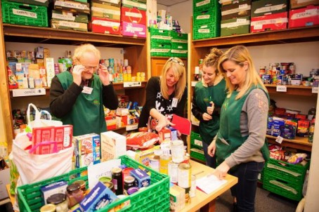 Foodbank volunteers at Newport's Christchurch Centre