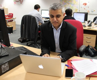 Labour candidate Sadiq Khan takes part in the hustings
