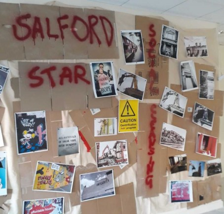 One of the displays from the Salford Star exhibition