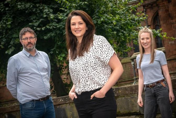 From left: Nick Turner, Sally Edgar and Helen Statham