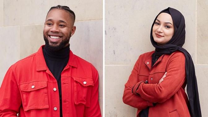 BBC Radio Bradford's Sanchez Payne, left, and Rima Ahmed