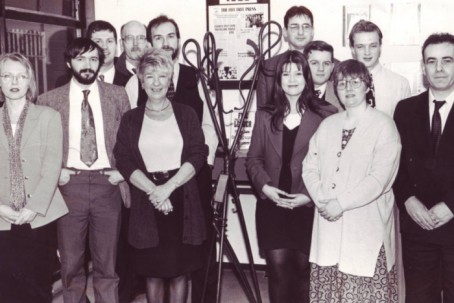 Sandra Watson, third left, with Fife Free Press colleagues