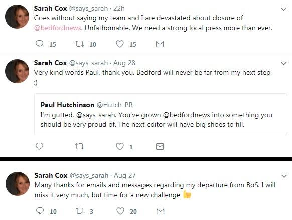 Sarah Cox tweets