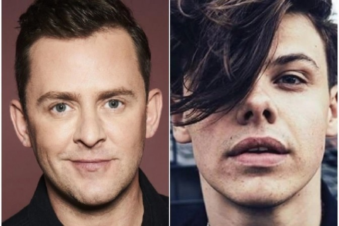 From left: Scott Mills and Yungblud