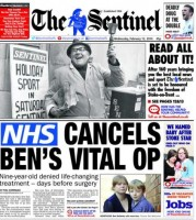 The Sentinel told readers about its honour on the front page.