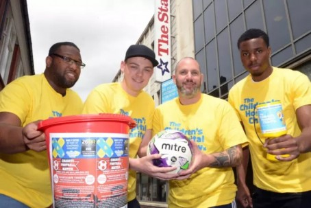 From left: Match organisers Levi Haughton, Jozeph Secker, Karl Wiley and Shakiel Thompson