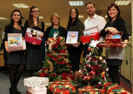 Archant Suffolk staff with their donations