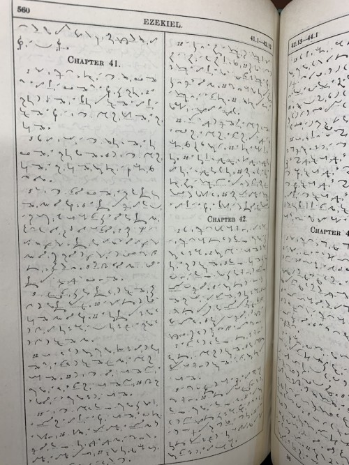 How the shorthand Bible looks inside