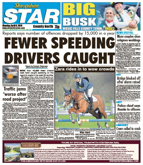 A Shropshire Star front page featuring RADAR content