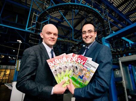 Shropshire Weekly editor Thom Kennedy, left, with Shropshire Star editor Martin Wright