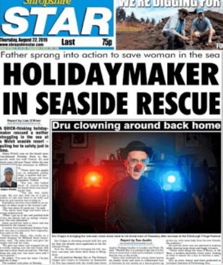 The Shropshire Star splashed on the story on Thursday
